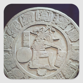 Mayan ball court marker, from Chinkultic Square Sticker
