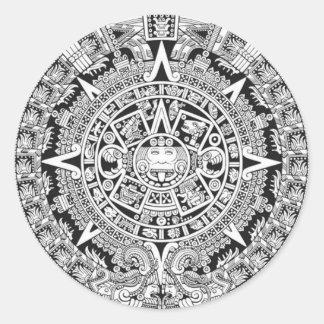 Mayan Calendar 12.21.2012 Aztec Classic Round Sticker
