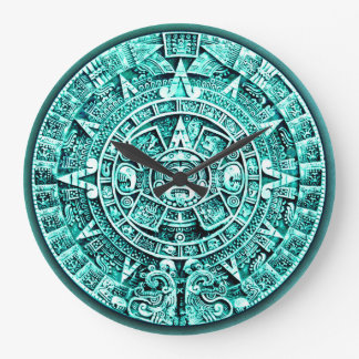 Mayan Calendar (12 Hour Dial) Large Clock