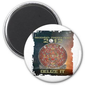 Mayan Calendar 6 Cm Round Magnet