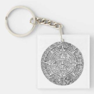 mayan calendar acrylic key chain