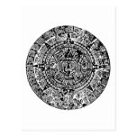 Mayan Calendar Black Postcard