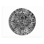 Mayan Calendar Black Postcards