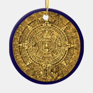 mayan calendar christmas ornament