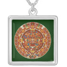 Mayan Calendar, ending in 2012 Silver Plated Necklace