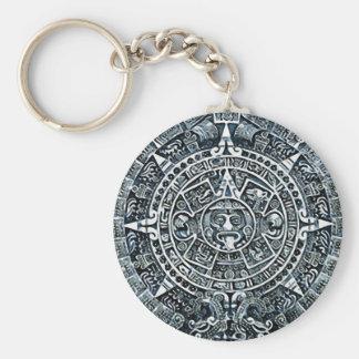 Mayan Calendar / Maya Kalender Basic Round Button Key Ring