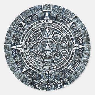Mayan Calendar / Maya Kalender Classic Round Sticker