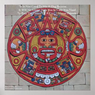 Mayan Calendar & Proverb Poster