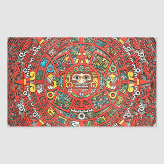 Mayan Calendar Rectangular Sticker