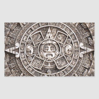 Mayan Calendar Rectangular Sticker