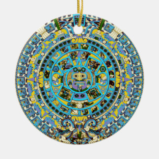 mayan calendar round ceramic decoration
