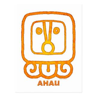 Mayan Calendar Sign AHAU Postcard