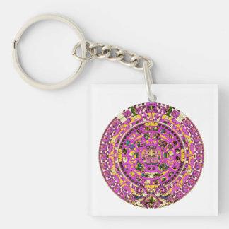 mayan calendar Single-Sided square acrylic key ring
