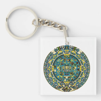mayan calendar Single-Sided square acrylic key ring
