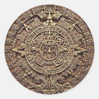 Mayan Calendar Stone 12.21.2012 Classic Round Sticker