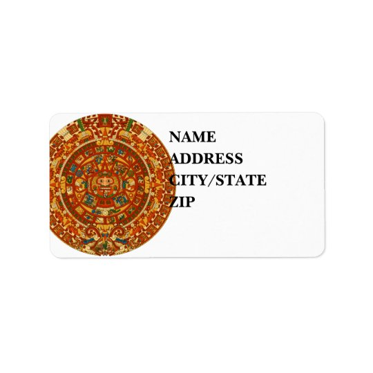 'Mayan Calendar Stone' Address Label