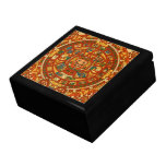 'Mayan Calendar Stone' Large Square Gift Box