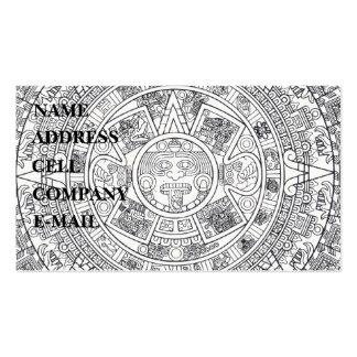 'Mayan Calendar Stone' Pack Of Standard Business Cards