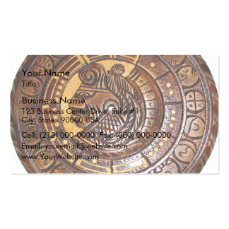 Mayan Calendar with a hole in center Pack Of Standard Business Cards