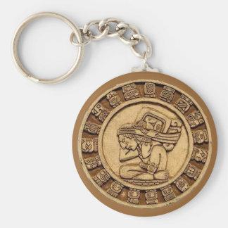 Mayan Calender Basic Round Button Key Ring