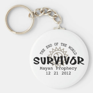 Mayan Calender End of the World 2012 Basic Round Button Key Ring