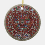 Mayan Calender Round Ceramic Decoration