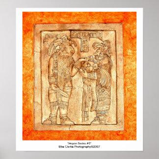 Mayan Carvings Photo Series #2 Poster