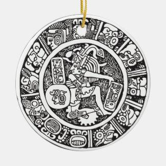 Mayan circle, Mexican hieroglyph(Maya) Christmas Ornament
