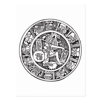 Mayan circle, Mexican hieroglyph(Maya) Postcard