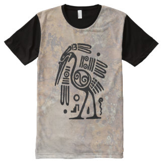 Mayan Crane All-Over Print T-Shirt
