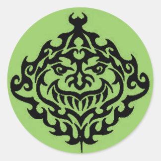 Mayan Creature Classic Round Sticker