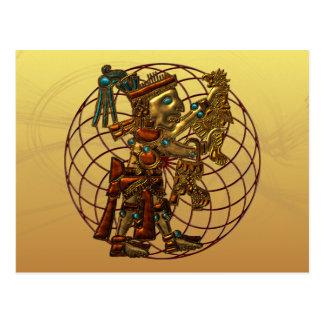 Mayan Deity Postcard