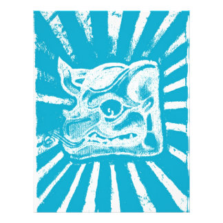 mayan glyph (blue) full color flyer
