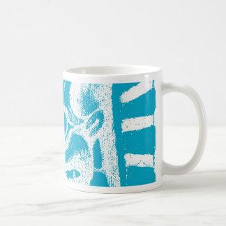 mayan glyph (blue) mugs