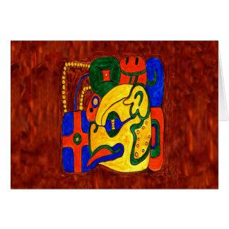 MAYAN GLYPH OF THE CITY STATE OF TONIÑA CARD