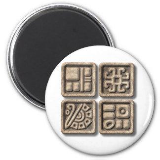 Mayan Glyphs-stone Magnet