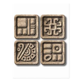 Mayan Glyphs-stone Postcard