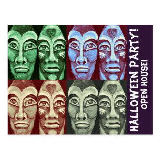 Mayan Halloween Party RSVP Postcard