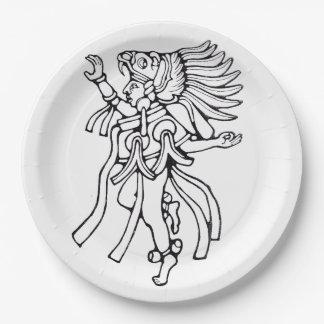 Mayan jaguar dancer - Dancer Plate