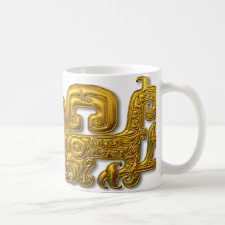 Mayan Jaguar-Gold Coffee Mug