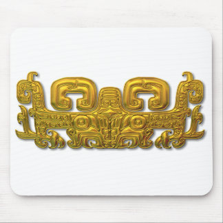 Mayan Jaguar - Gold Mouse Mat