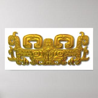 Mayan Jaguar - Gold Poster