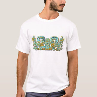 Mayan Jaguar-turquoise and gold T-Shirt