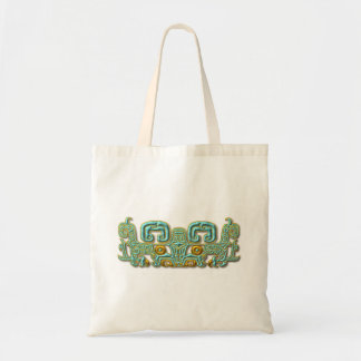 Mayan Jaguar-turquoise and gold Tote Bag