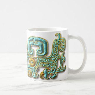 Mayan Jaguar-Turquoise Coffee Mug