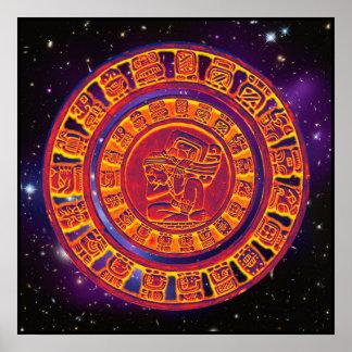 Mayan long-count calendar Poster