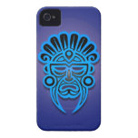 Mayan Mask Design, Blue