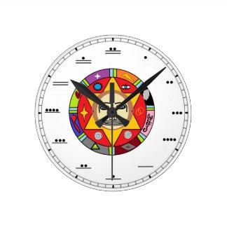Mayan Number Wall Clock