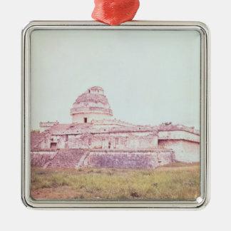 Mayan observatory, c.1050 christmas ornament