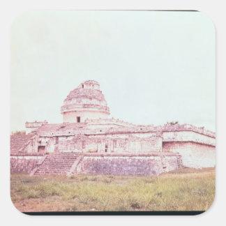 Mayan observatory, c.1050 square sticker